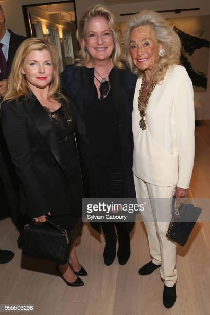Emily Smith Felicia Taylor and Terry Allen Kramer attend Ambassador Grenell Goodbye Bash on May 6 2018 in New York City