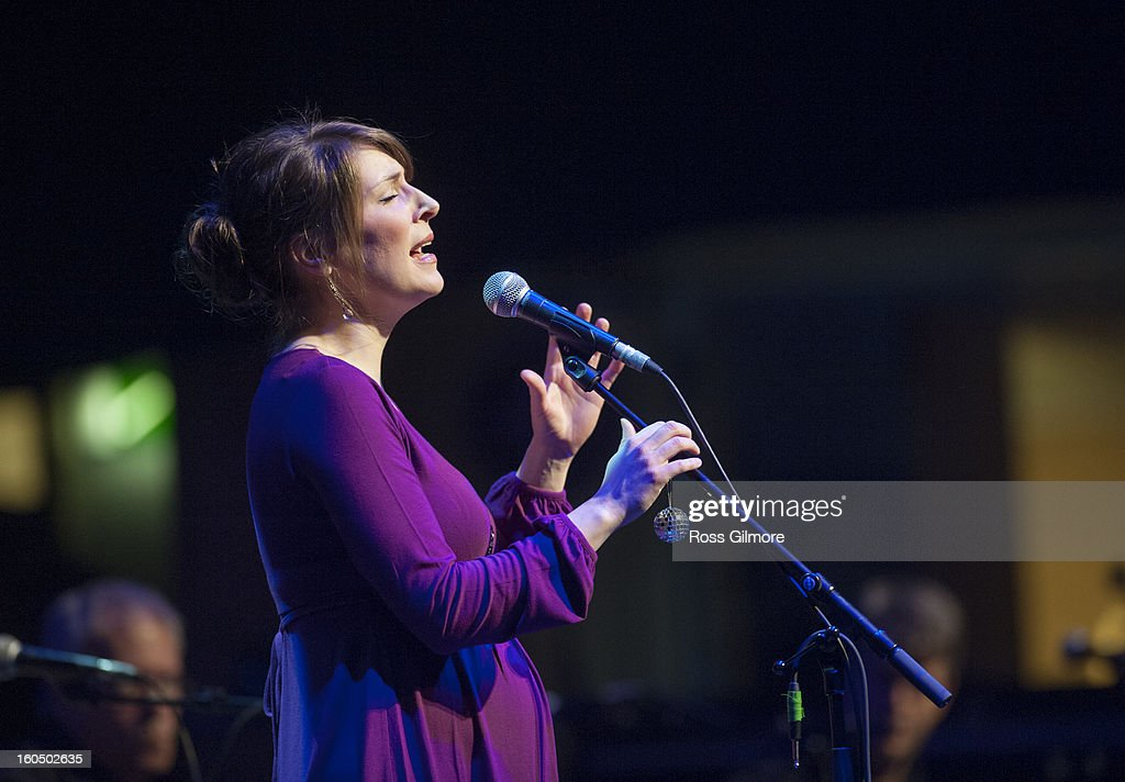 Emily Smith performs on stage as part of Transatlantic Sessions at Celtic Connections Festival 2013 at Glasgow Royal Concert Hall on February 1, 2013 in Glasgow, Scotland.