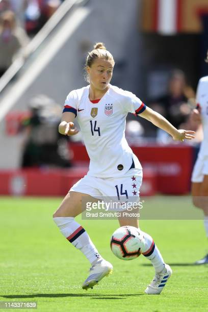 Emily Sonnett of the United States during an international friendly match between the womens national teams of the United States and South Africa on...