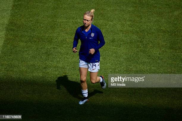 Emily Sonnett of the USA looks on prior to the 2019 FIFA Women's World Cup France Final match between The United States of America and The...