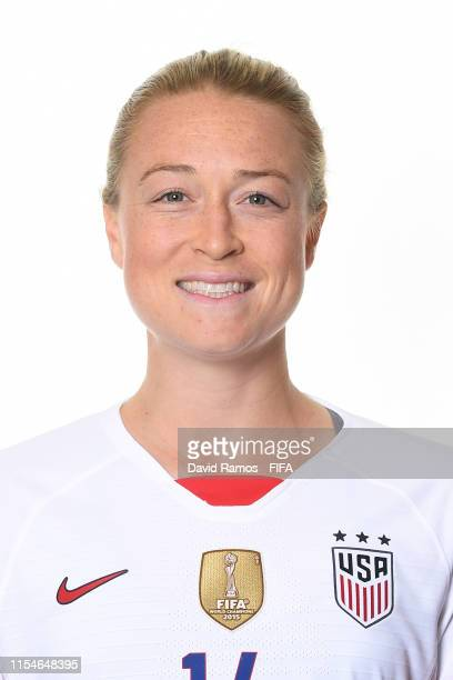 Emily Sonnett of the USA poses for a portrait during the official FIFA Women's World Cup 2019 portrait session at Best Western Premier Hotel de la...