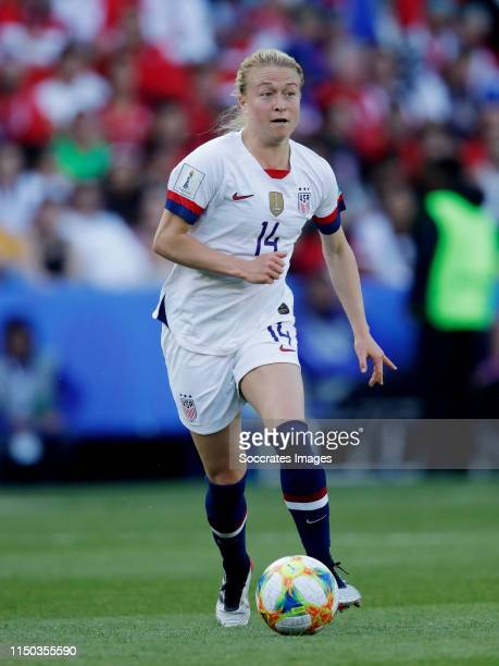 Emily Sonnett of USA Women during the World Cup Women match between USA v Chile at the Parc des Princes on June 16 2019 in Paris France