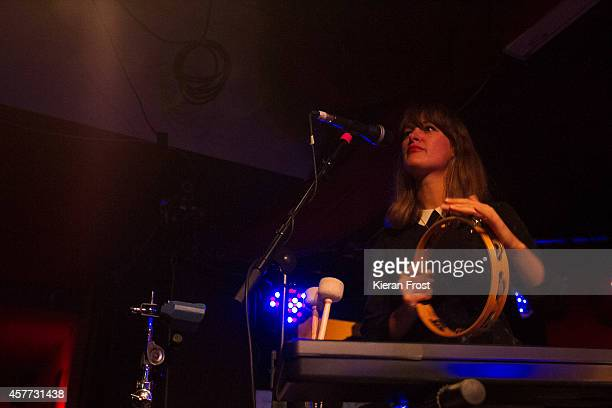 Emily Staveley-Taylor of The Staves performs on stage at Whelan's on October 23, 2014 in Dublin, Ireland.