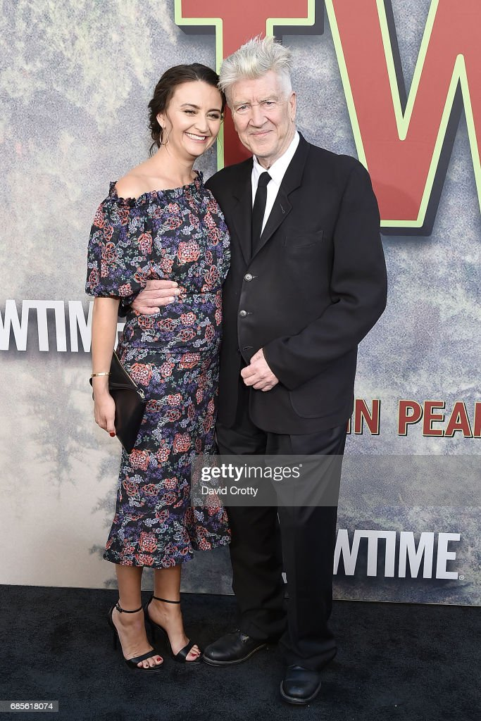 Emily Stofle and David Lynch attend the World Premiere Of Showtime's 'Twin Peaks' - Arrivals at The Theatre at Ace Hotel on May 19, 2017 in Los Angeles, California.