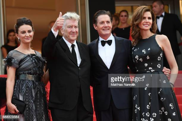 Emily Stofle David Lynch Desiree Gruber and Kyle MacLachlan attend the Twin Peaks screening during the 70th annual Cannes Film Festival at Palais des...