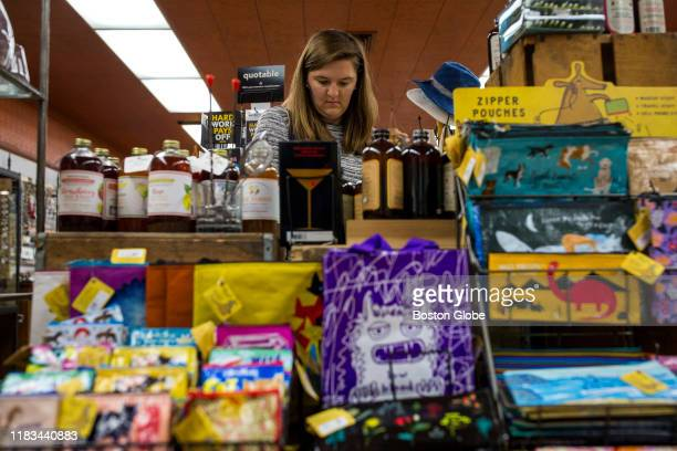 Emily Stout of Somerville shops for a gift at Davis Squared in Davis Square in Somerville MA on Oct 25 2019 Today Davis Square still buzzes with...