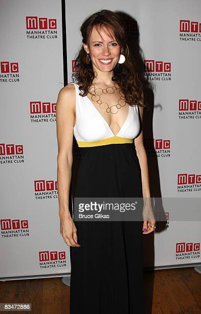 Emily Swallow poses at The Opening Night Party for Romantic Poetry OffBroadway at Beacon on October 28 2008 in New York City