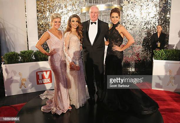 Emily Symons Ada Nicodemou Ray Meagher and Kate Ritchie arrive at the 2013 Logie Awards at the Crown on April 7 2013 in Melbourne Australia