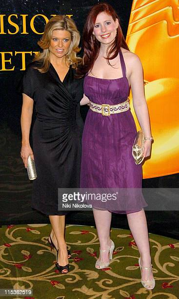 Emily Symons and Amy Nuttall during RTS Programme Awards 2004 at Grosvenor House Hotel in London Great Britain