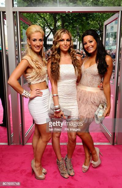Emily Themis Katerina Themis and Sophia Port of Candy Rock arriving for the UK Premiere of Killers at the Odeon West End Leicester Square London