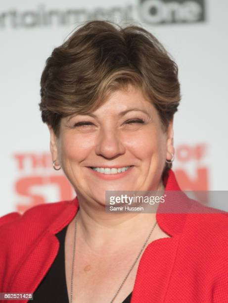 Emily Thornberry arriving at 'The Death Of Stalin' UK Premiere held at Bluebird on October 17 2017 in London England