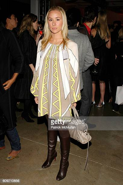 Emily Threlkeld attends GLAMOUR Magazine Fashion Gives Back Party at Milk Studios Penthouse on February 1 2007 in New York City