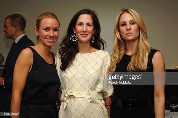 Emily Threlkeld Patricia Lansing and Rebekah McCabe attend MARIO ANNE GRAUSO host a Dinner for OLIVIER THEYSKENS at Philippe on September 25 2007 in...