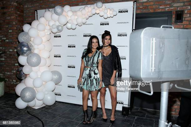 Emily Tosta and Sammi Sanchez attend Mane Addicts Prom '17 @ Avenue Los Angeles on May 9 2017 in Los Angeles California