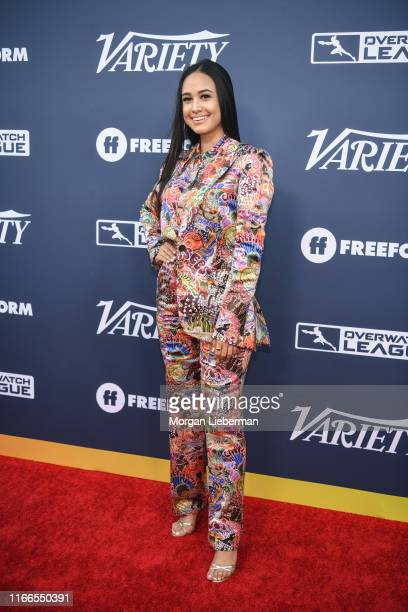 Emily Tosta arrives at Variety's Power Of Young Hollywood party at The H Club Los Angeles on August 06 2019 in Los Angeles California