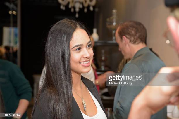 Emily Tosta attends a party for Hayley Orrantia's new EP The Way Out at The Harmonist on May 28 2019 in Los Angeles California