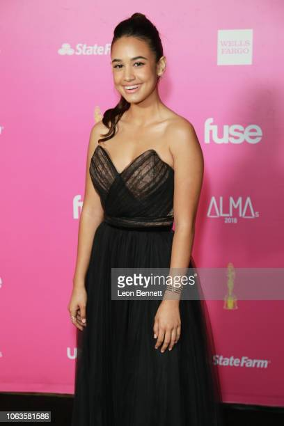 Emily Tosta attends The ALMAs 2018 Arrivals on November 04 2018 in Los Angeles California