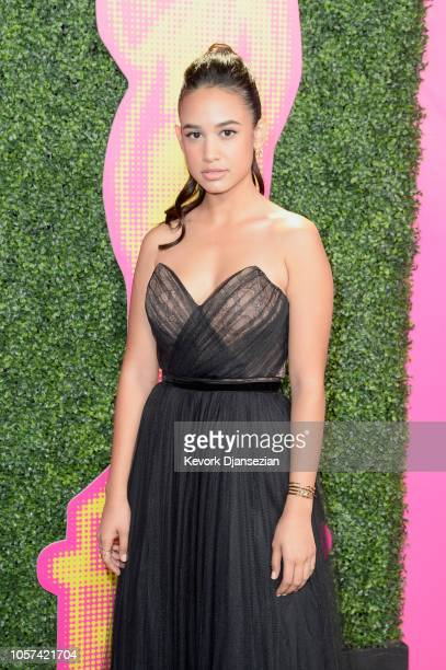 Emily Tosta attends the ALMAs 2018 LIVE On Fuse at LA Live on November 4 2018 in Los Angeles California