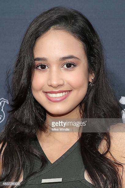 Emily Tosta attends the premiere of Awesomeness TV's Janoskians Untold and Untrue at Regency Bruin Theatre on August 25 2015 in Los Angeles California
