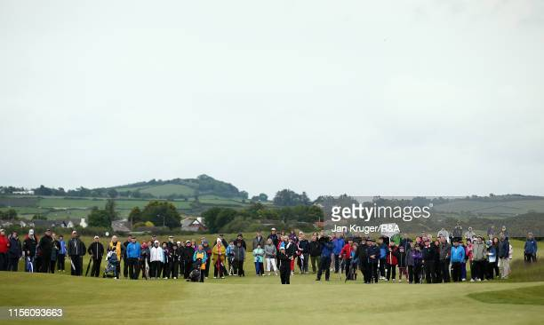 Emily Toy of England in action during the morning semi final matchplay on day five of the RA Womens Amateur Championship at Royal County Down Golf...