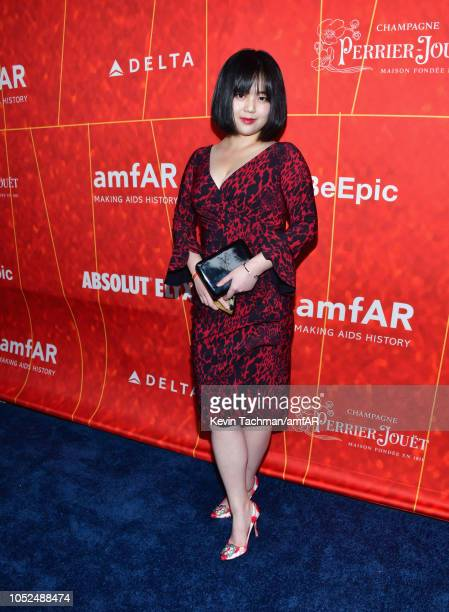 Emily Tsang attends the amfAR Gala Los Angeles 2018 at Wallis Annenberg Center for the Performing Arts on October 18 2018 in Beverly Hills California