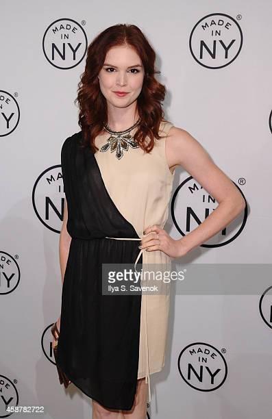 Emily Tyra attends 'Made In NY' Awards Ceremony at Weylin B Seymour's on November 10 2014 in Brooklyn New York