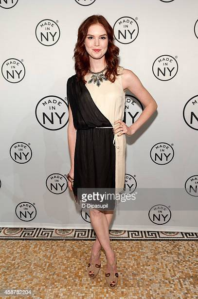 Emily Tyra attends the 'Made In NY' Awards Ceremony at Weylin B Seymour's on November 10 2014 in Brooklyn New York