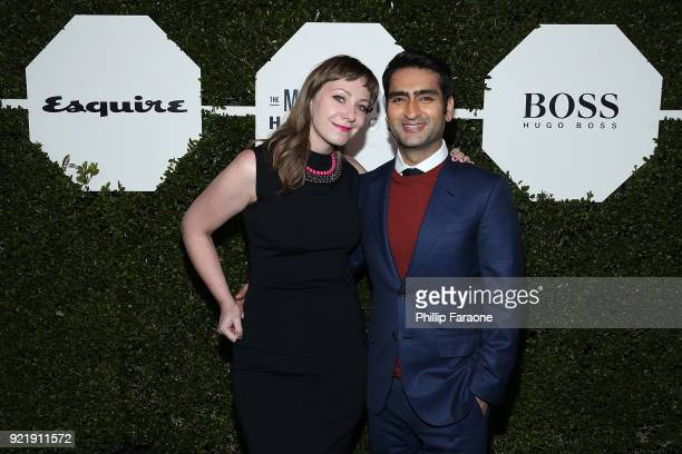 Emily V Gordon and Kumail Nanjiani attend Esquire's Annual Maverick's of Hollywood at Sunset Tower on February 20 2018 in Los Angeles California