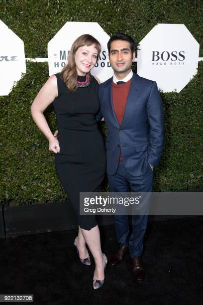 Emily V Gordon and Kumail Nanjiani attend Esquire's Annual Maverick's Of Hollywood on February 20 2018 in Los Angeles California