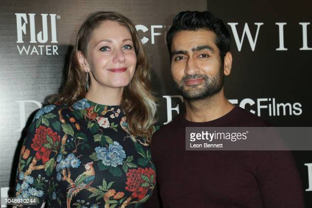Emily V Gordon and Kumail Nanjiani attend Los Angeles Premiere For IFC Films' 'Wildlife' at ArcLight Hollywood on October 9 2018 in Hollywood...