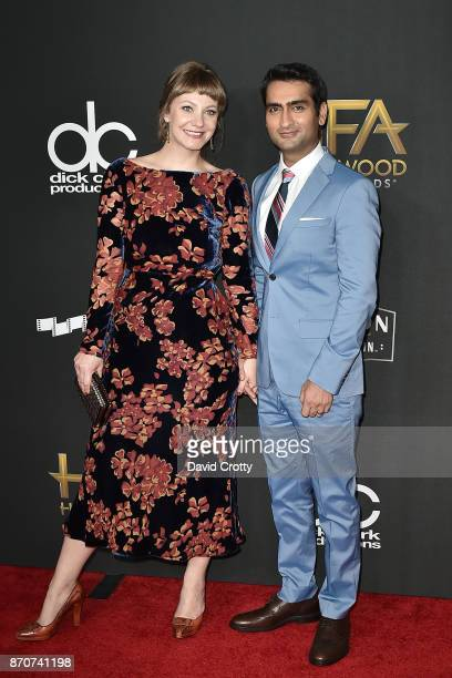 Emily V Gordon and Kumail Nanjiani attend the 21st Annual Hollywood Film Awards Arrivals on November 5 2017 in Beverly Hills California