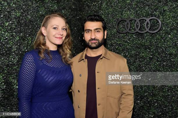 Emily V. Gordon and Kumail Nanjiani attend the Audi and David Chang e-tron dinner at Majordomo on May 9, 2019 in Los Angeles, California.