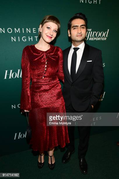 Emily V Gordon and Kumail Nanjiani attend The Hollywood Reporter 6th Annual Nominees Night at CUT on February 5 2018 in Beverly Hills California