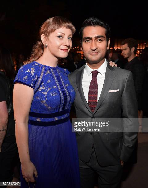 Emily V Gordon and Kumail Nanjiani attend the SAGAFTRA Foundation Patron of the Artists Awards 2017 at the Wallis Annenberg Center for the Performing...