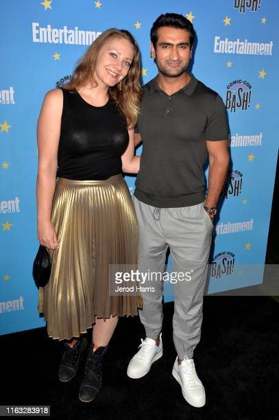 Emily V. Gordon and Kumail Nanjiani attends Entertainment Weekly Comic-Con Celebration at Float at Hard Rock Hotel San Diego on July 20, 2019 in San...