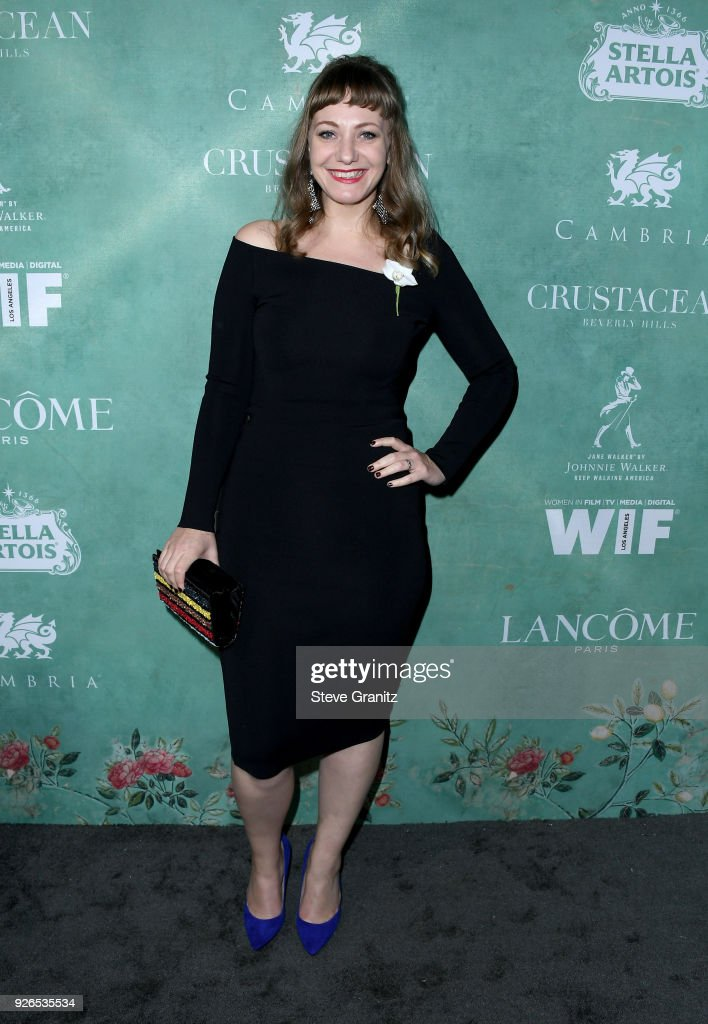 Emily V. Gordon attends the 11th annual celebration of the 2018 female Oscar nominees presented by Women in Film at Crustacean on March 2, 2018 in Beverly Hills, California.