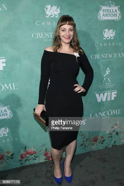 Emily V Gordon attends the 11th annual celebration of the 2018 Female Oscar nominees presented by Women in Film at Crustacean on March 2 2018 in...