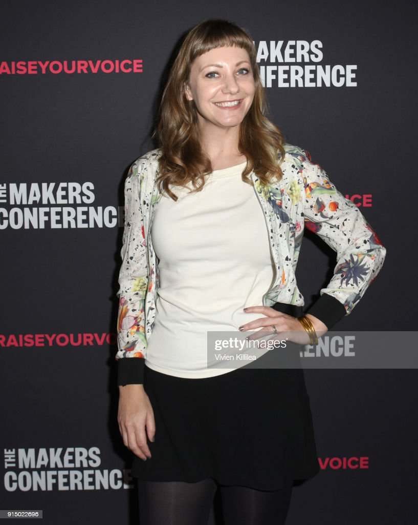 Emily V. Gordon attends The 2018 MAKERS Conference at NeueHouse Hollywood on February 6, 2018 in Los Angeles, California.