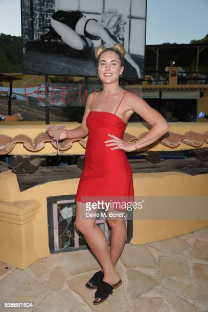 Emily Valentine Parr attends the VIP launch party for FREE WOMEN an exhibition by Diana Gomez opening August 25th and running until the end of...