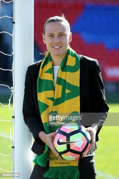 Emily Van Egmond of the Matildas pictured at McDonald Jones stadium after the announcement of a two match International Friendly series against...