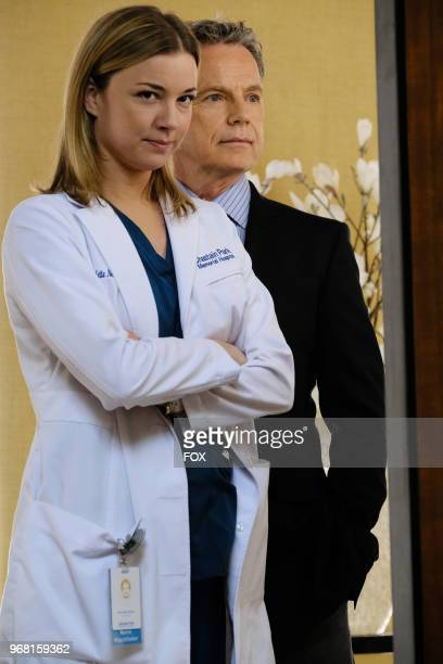 Emily VanCamp and Bruce Greenwood in the 'Family Affair' episode of THE RESIDENT airing Monday March 19 on FOX