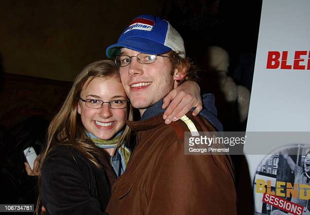 Emily VanCamp and Chris Pratt during 2004 Park City Blender Sessions with Samantha Ronson and Macy Gray Benefiting Inner City Filmmakers at Harry O's...