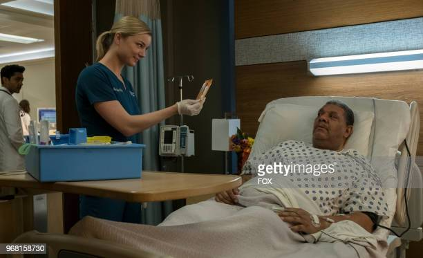 Emily VanCamp and guest star Gerard Catus in the 'And the Nurses Get Screwed' episode of THE RESIDENT airing Monday April 23 on FOX