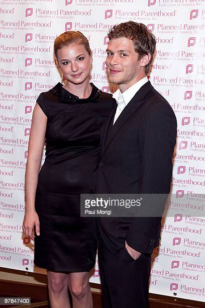 Emily VanCamp and Joseph Morgan attend the Planned Parenthood Federation Of America 2010 Annual Awards Gala at the Hyatt Regency Crystal City on...