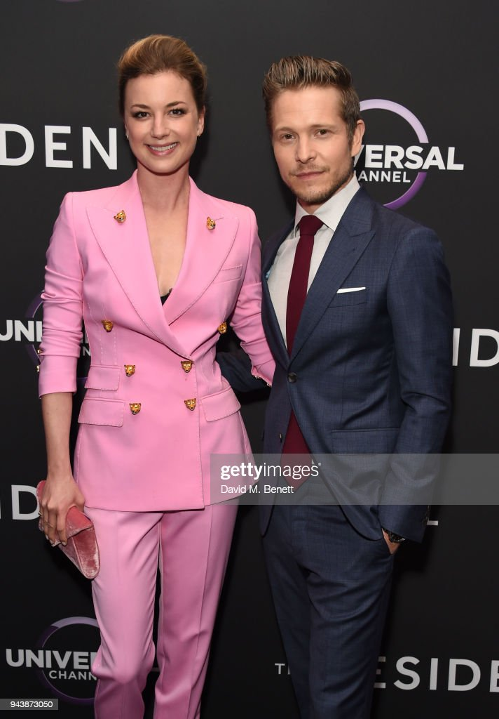 Emily VanCamp and Matt Czuchry attend the screening of The Resident premiering on Universal Channel, Tuesday 10th April at 9pm with Matt Czuchry and Emily VanCamp at Rosewood Hotel on April 9, 2018 in London, England.