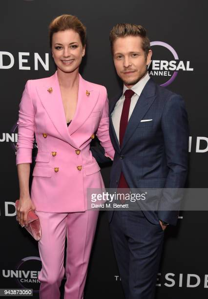 Emily VanCamp and Matt Czuchry attend the screening of The Resident premiering on Universal Channel Tuesday 10th April at 9pm with Matt Czuchry and...