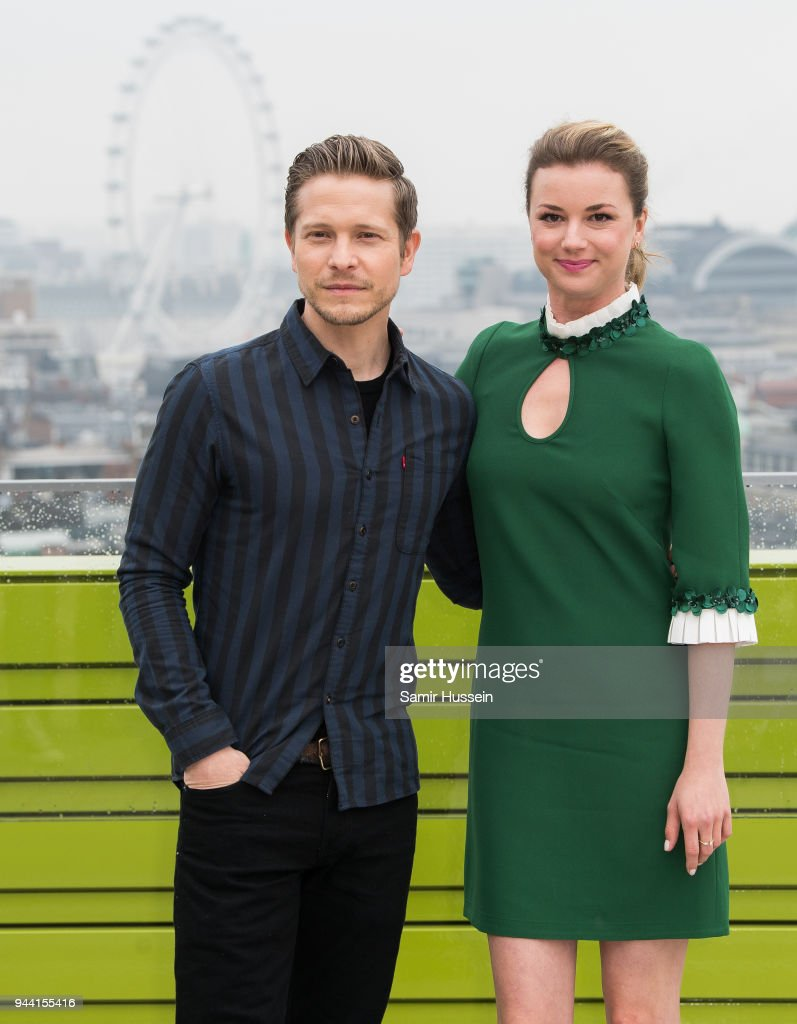 Emily VanCamp and Matt Czuchry during 'The Resident' photocall at NBC Universal on April 10, 2018 in London, England.