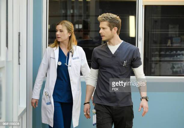 Emily VanCamp and Matt Czuchry in the 'Family Affair' episode of THE RESIDENT airing Monday March 19 on FOX