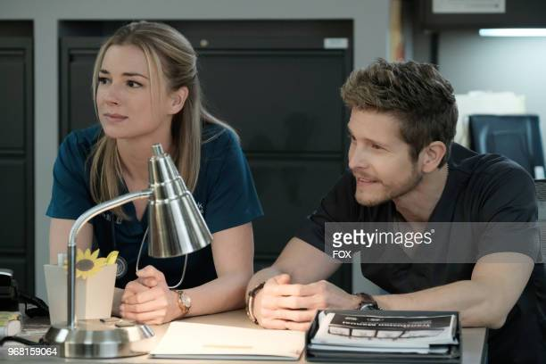 Emily VanCamp and Matt Czuchry in the 'Lost Love' episode of THE RESIDENT airing Monday March 26 on FOX
