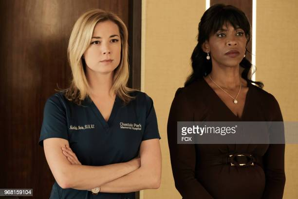 Emily VanCamp and Merrin Dungey in the 'Haunted' episode of THE RESIDENT airing Monday April 16 on FOX